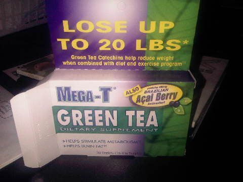 mega green tea pills with acai berry and hoodia